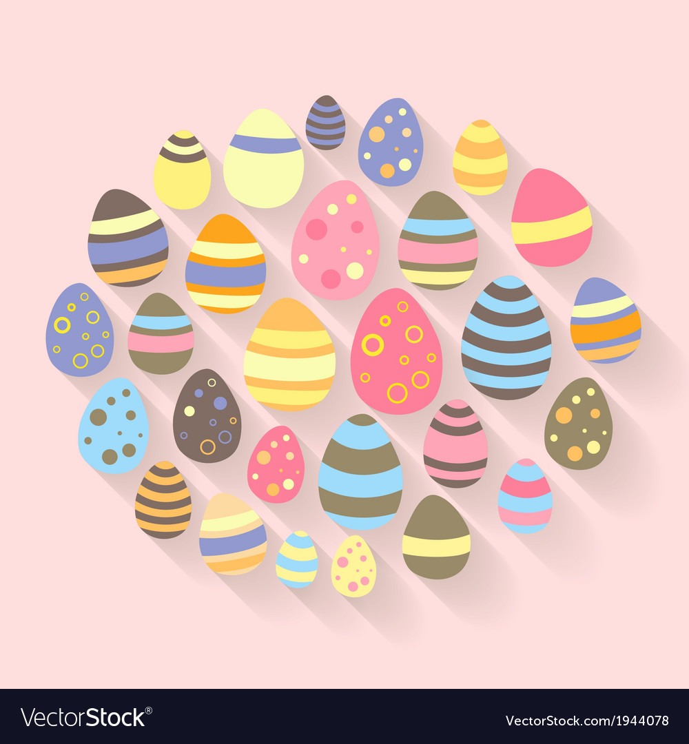 Easter eggs icons set vector   Price: 1 Credit (USD $1)
