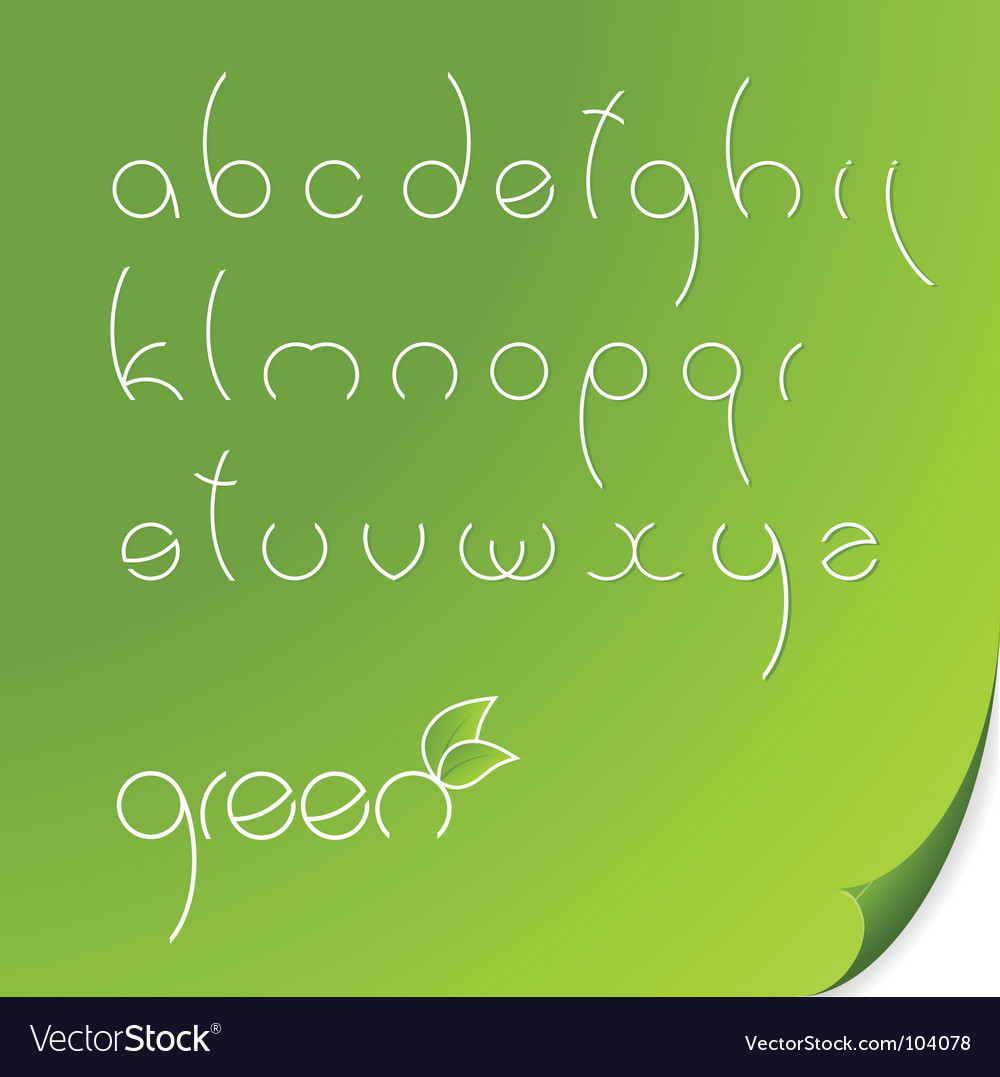 Eco font vector | Price: 1 Credit (USD $1)