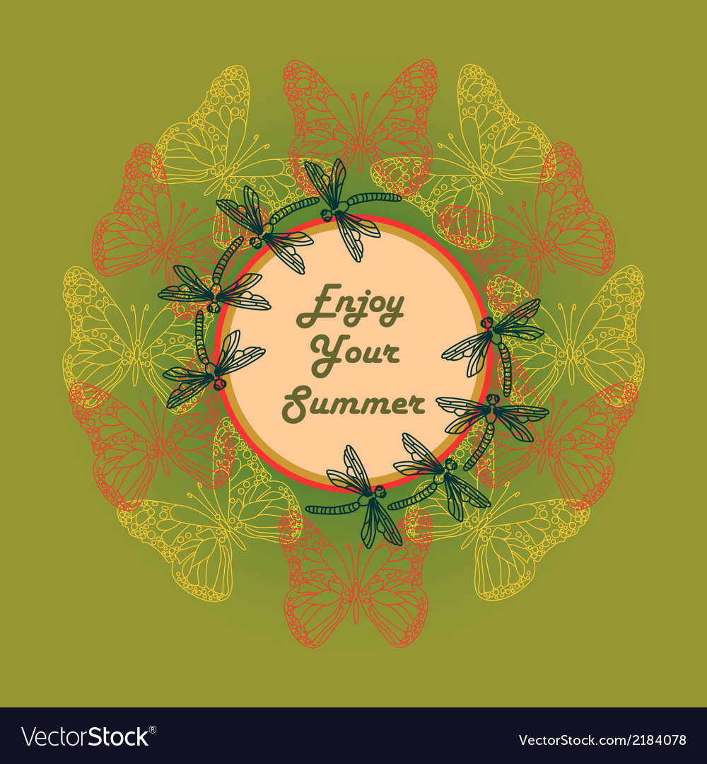 Enjoy your summer vector | Price: 1 Credit (USD $1)