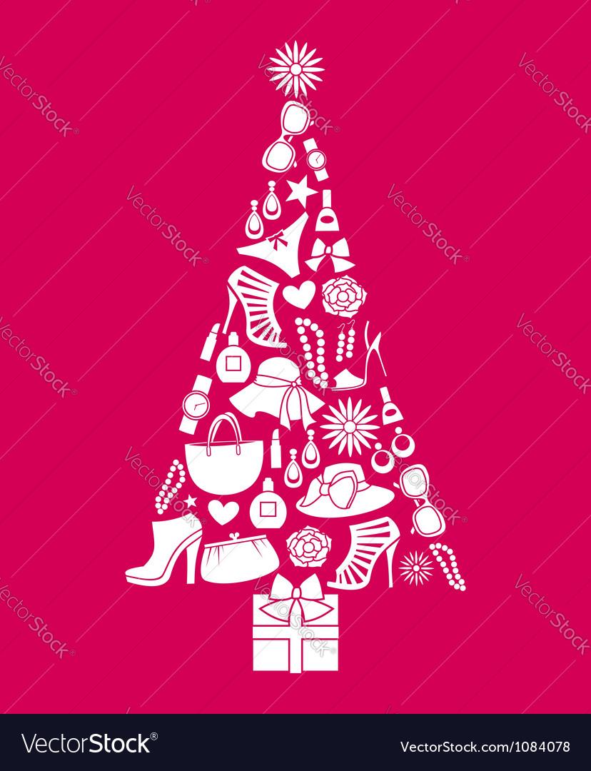 Fashion christmas tree vector | Price: 1 Credit (USD $1)