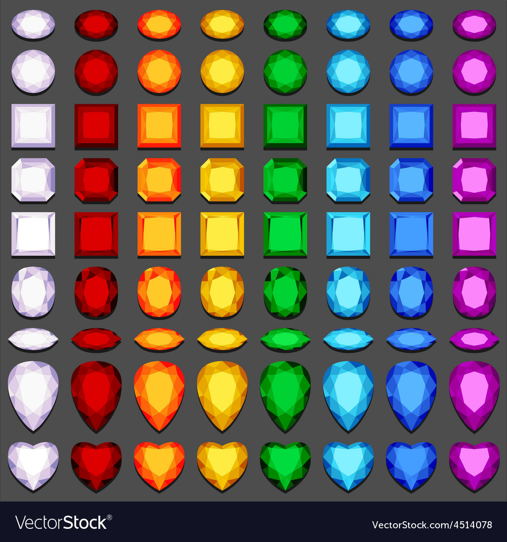 Gemstones vector | Price: 1 Credit (USD $1)