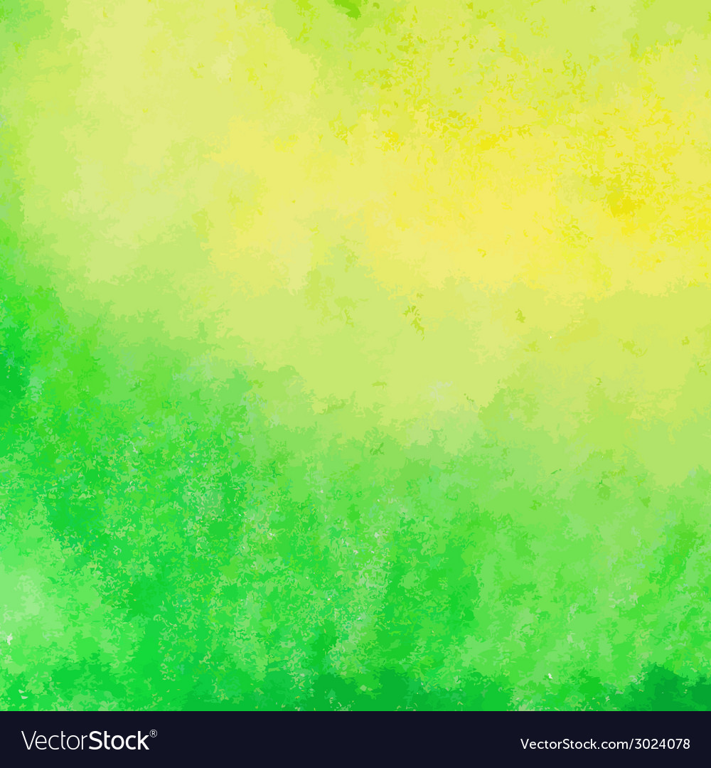 Green and yellow watercolor paint background vector | Price: 1 Credit (USD $1)