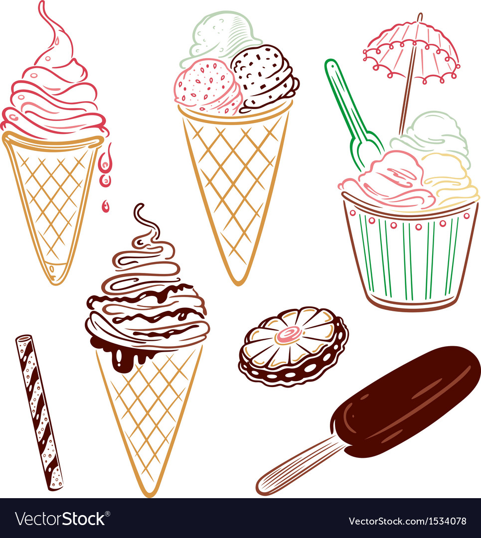 Ice cream design elements vector | Price: 1 Credit (USD $1)