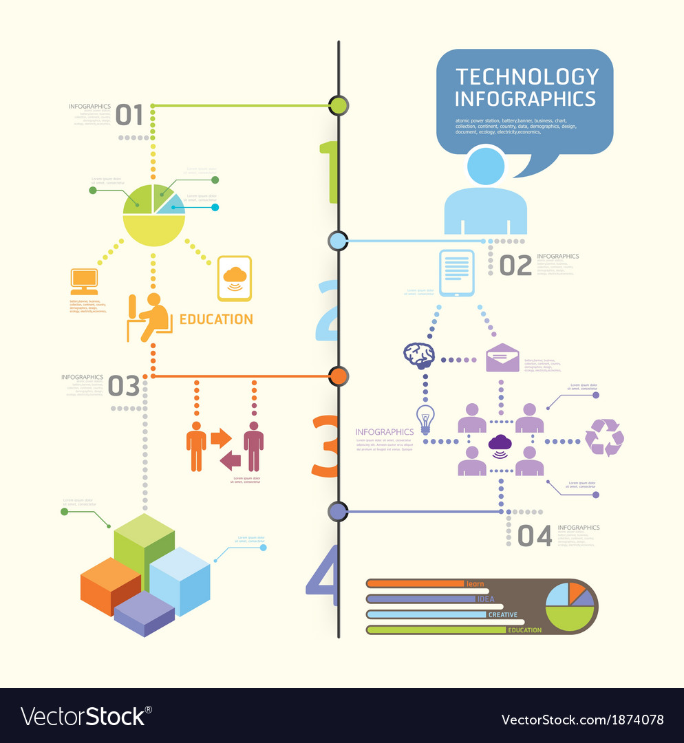 Infographics set and information technology graph vector | Price: 1 Credit (USD $1)