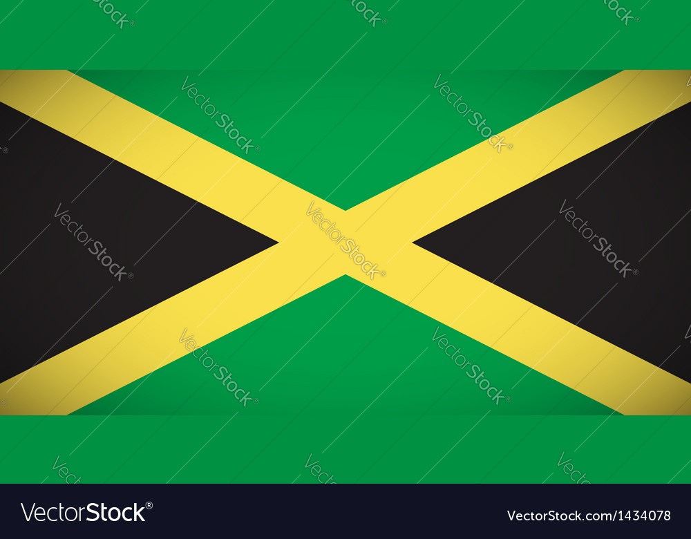 National flag of jamaica vector | Price: 1 Credit (USD $1)
