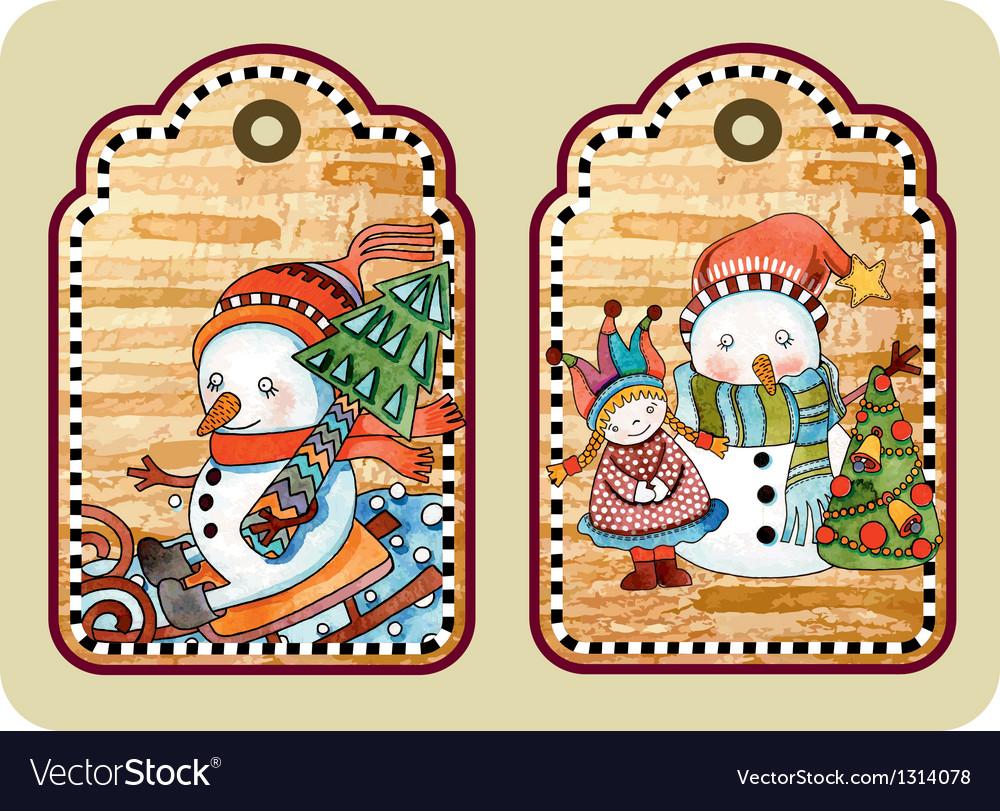 Sketchy christmas tags vector   Price: 1 Credit (USD $1)