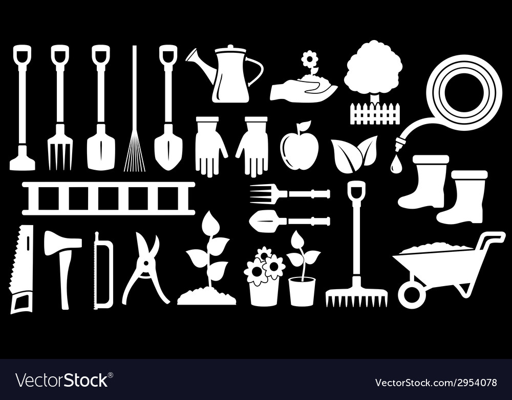 Tools for gardening work vector | Price: 1 Credit (USD $1)