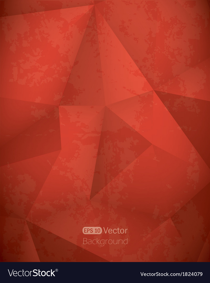 Abstract red triangle background vector | Price: 1 Credit (USD $1)