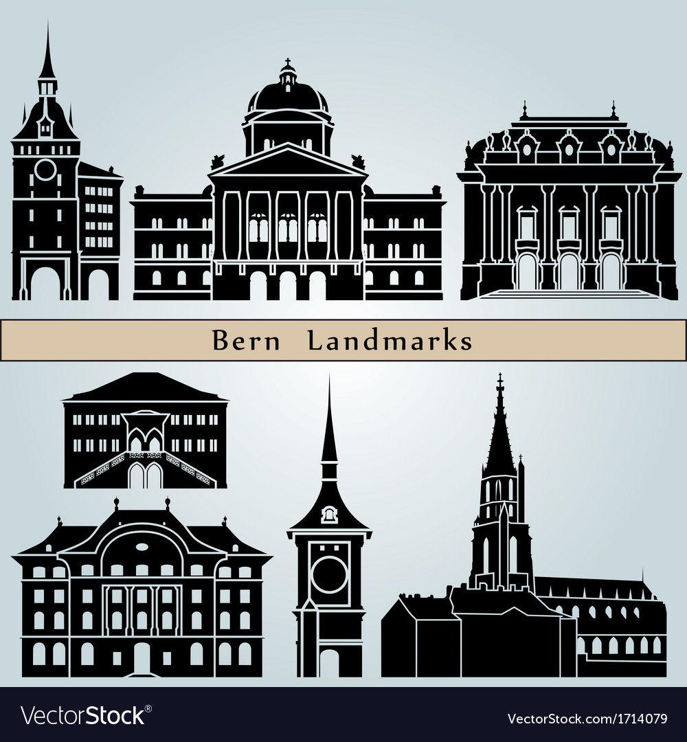 Bern landmarks and monuments vector   Price: 1 Credit (USD $1)