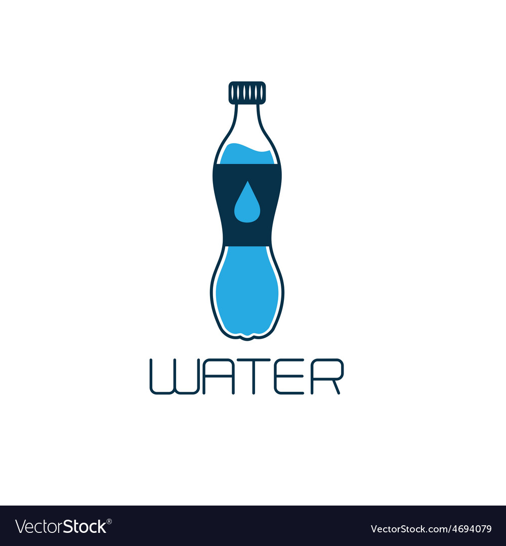 Bottle of water design concept vector | Price: 1 Credit (USD $1)