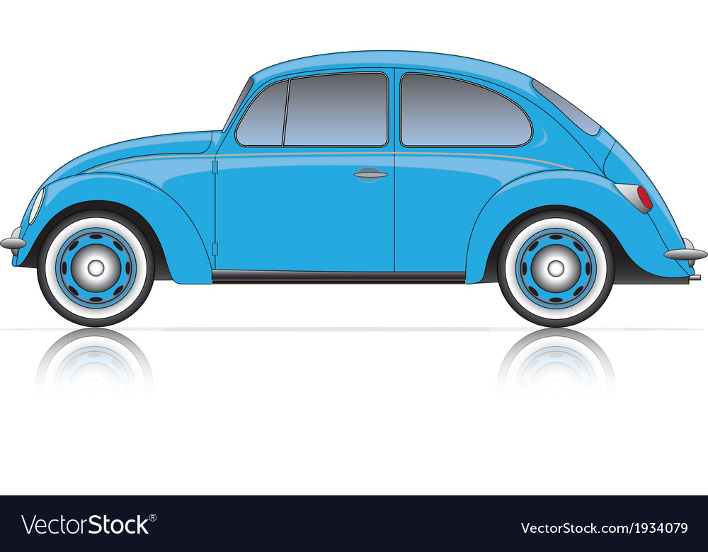 Compact blue car vector | Price: 1 Credit (USD $1)