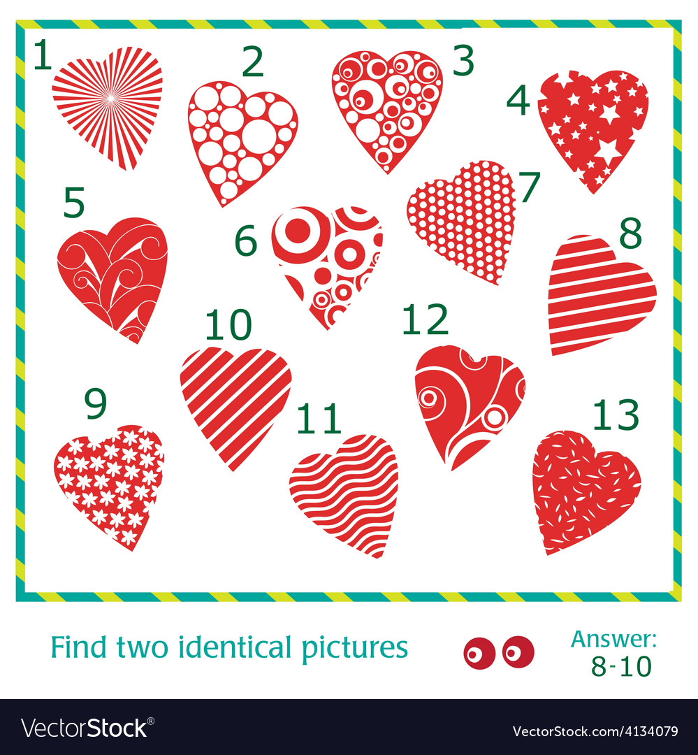 Find two identical pictures vector | Price: 1 Credit (USD $1)