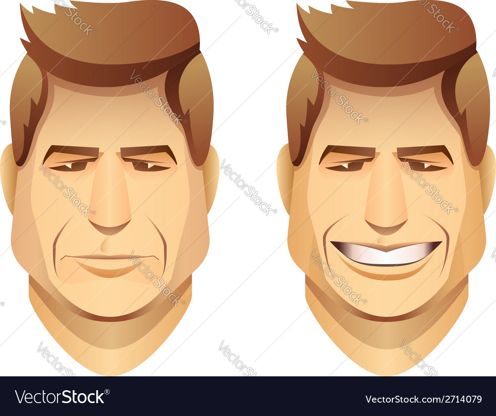 Male faces vector | Price: 1 Credit (USD $1)