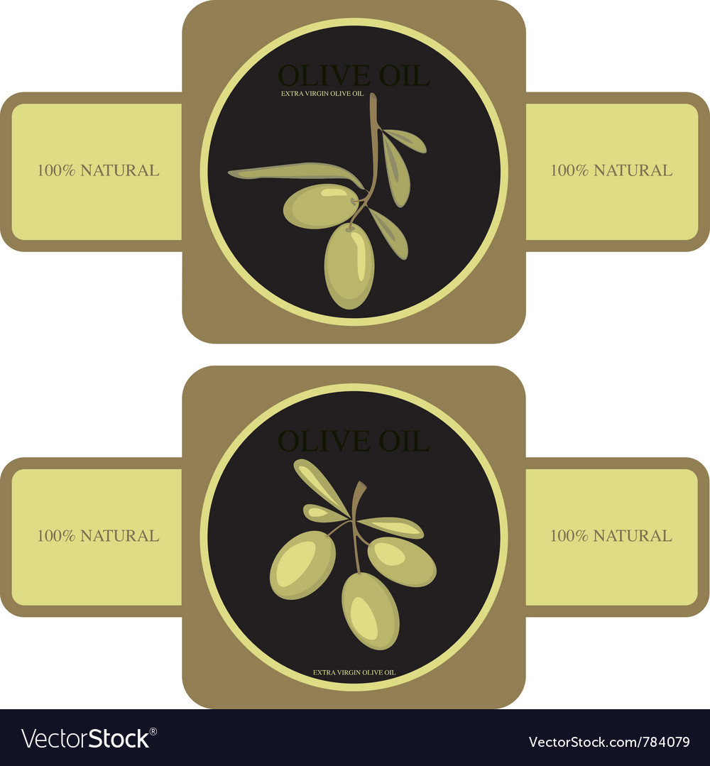 Olive oil - label vector | Price: 1 Credit (USD $1)