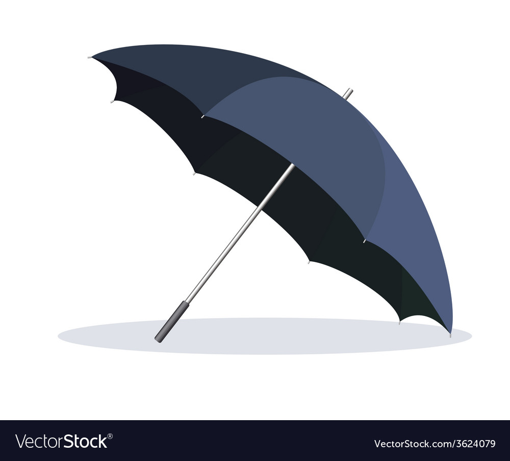 Opened umbrella isolated on white background vector | Price: 1 Credit (USD $1)