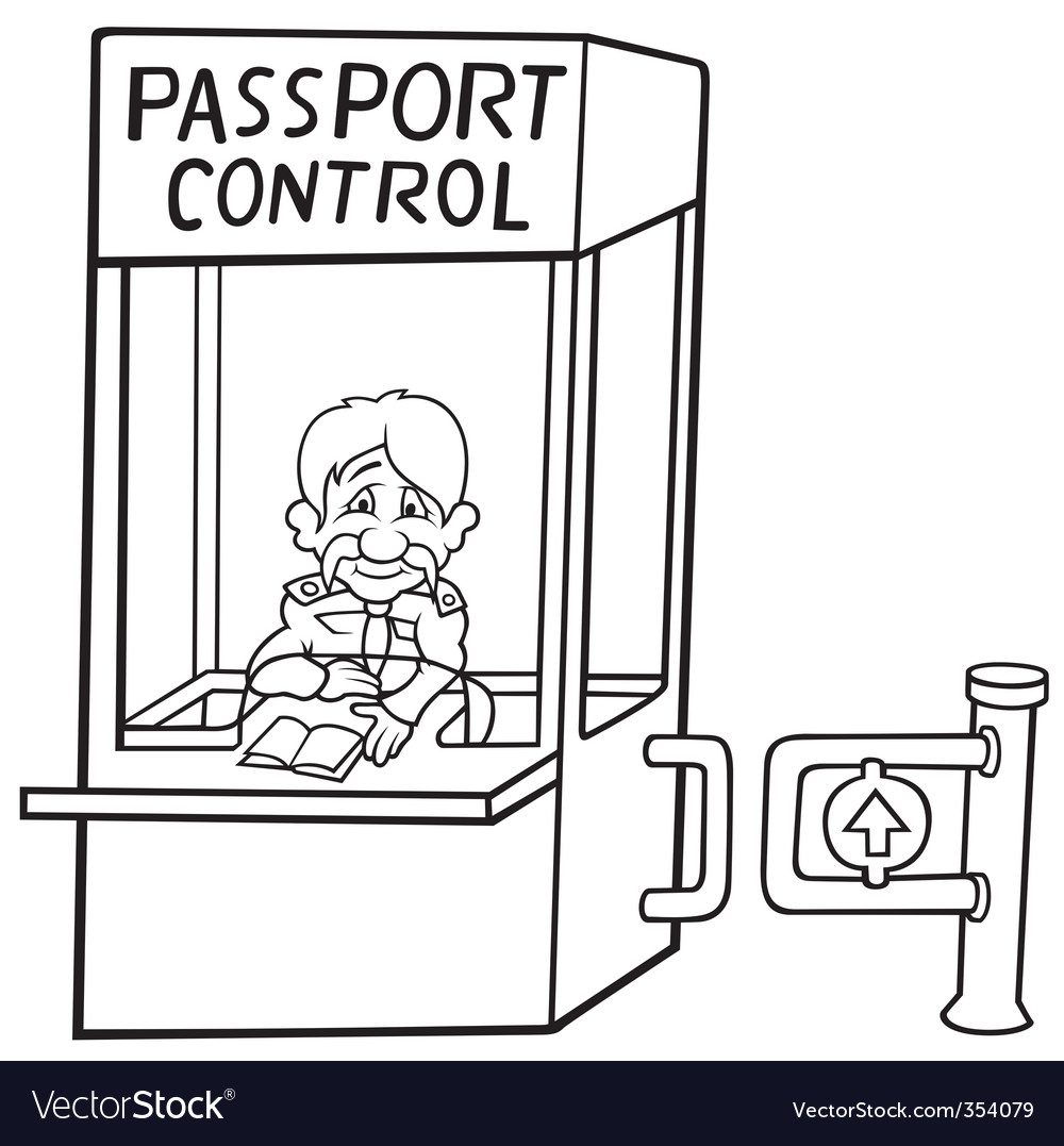 Passport control vector | Price: 1 Credit (USD $1)