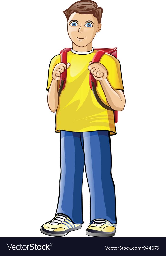 Schoolboy vector   Price: 1 Credit (USD $1)