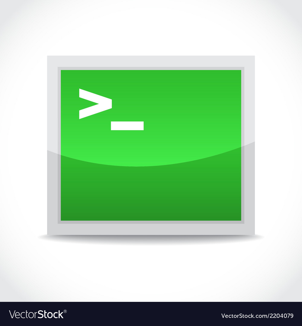 Terminal icon vector | Price: 1 Credit (USD $1)