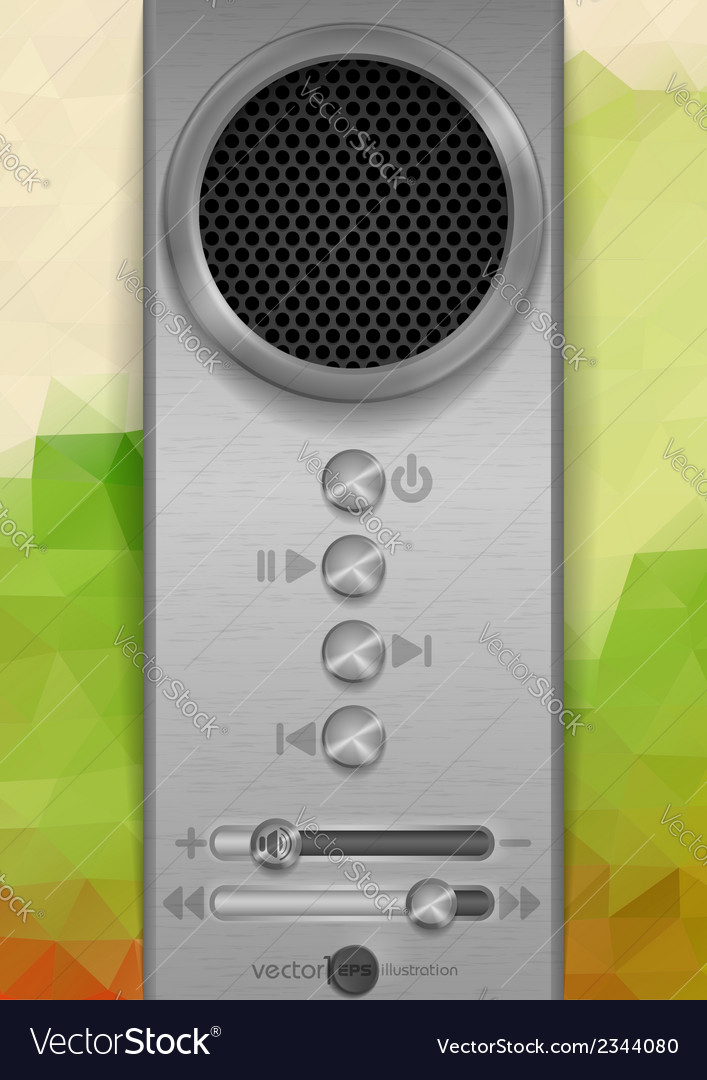 Abstract speaker concept design vector | Price: 1 Credit (USD $1)