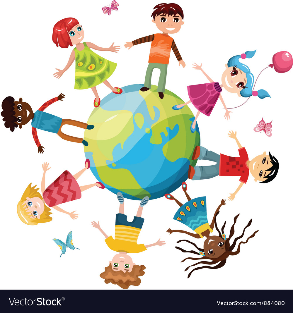 Children ih the world vector | Price: 3 Credit (USD $3)