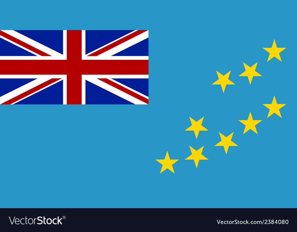 Flag of tuvalu vector | Price: 1 Credit (USD $1)