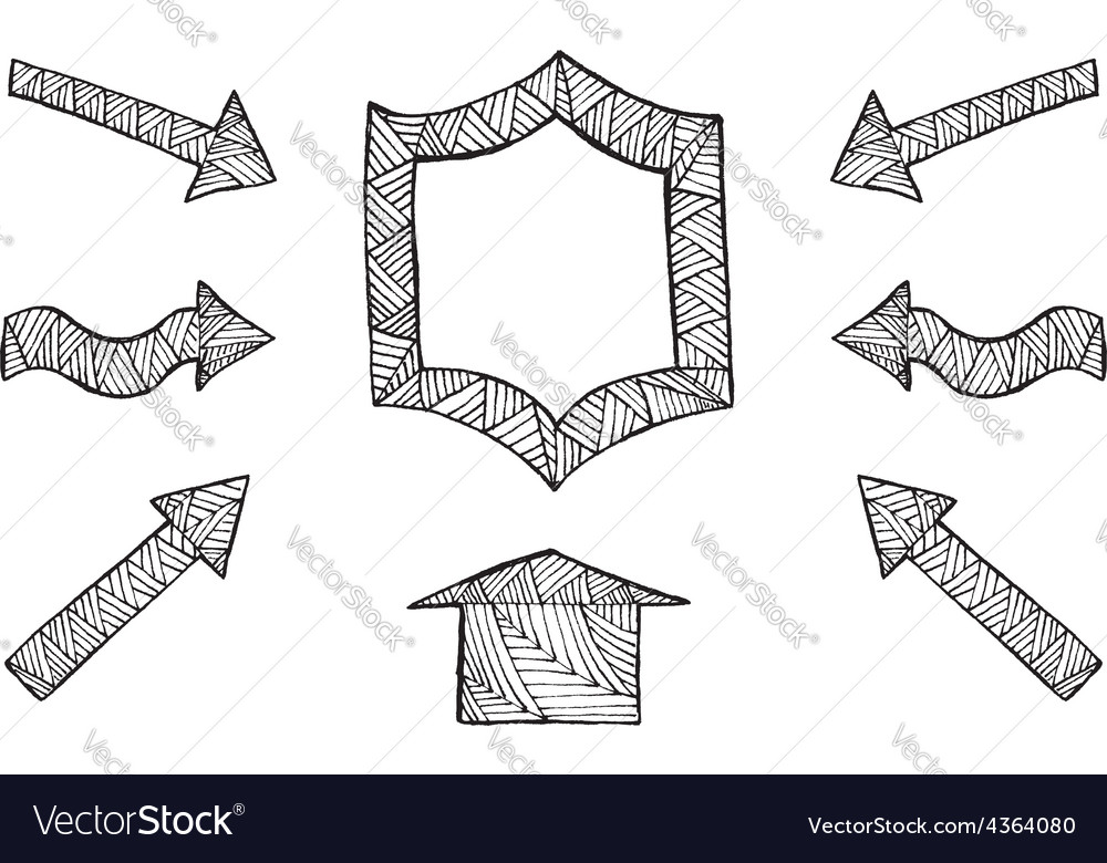Hand drawn arrows vector | Price: 1 Credit (USD $1)