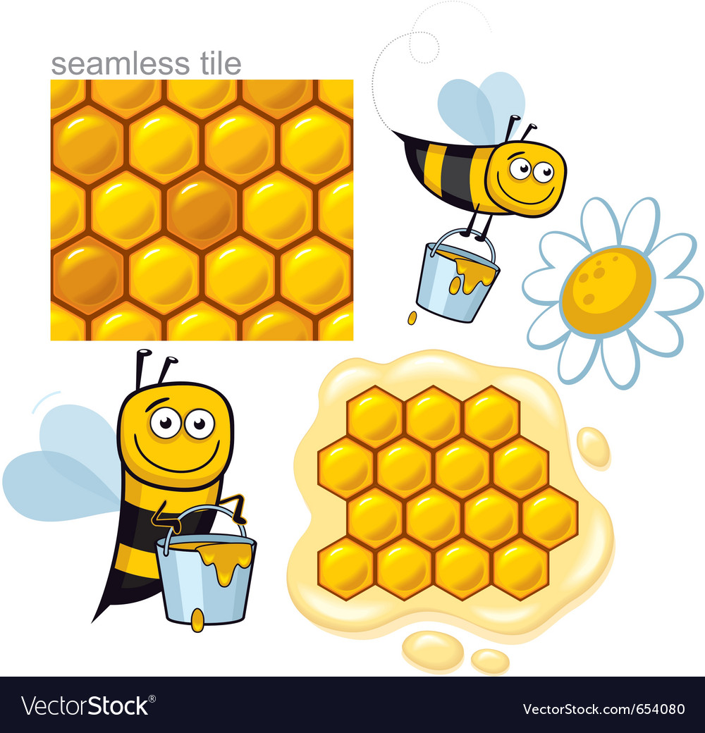 Honeybee elements vector | Price: 1 Credit (USD $1)