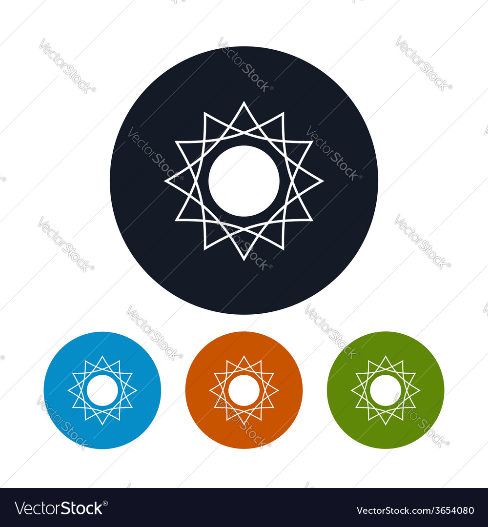 Icon abstrac sun vector | Price: 1 Credit (USD $1)