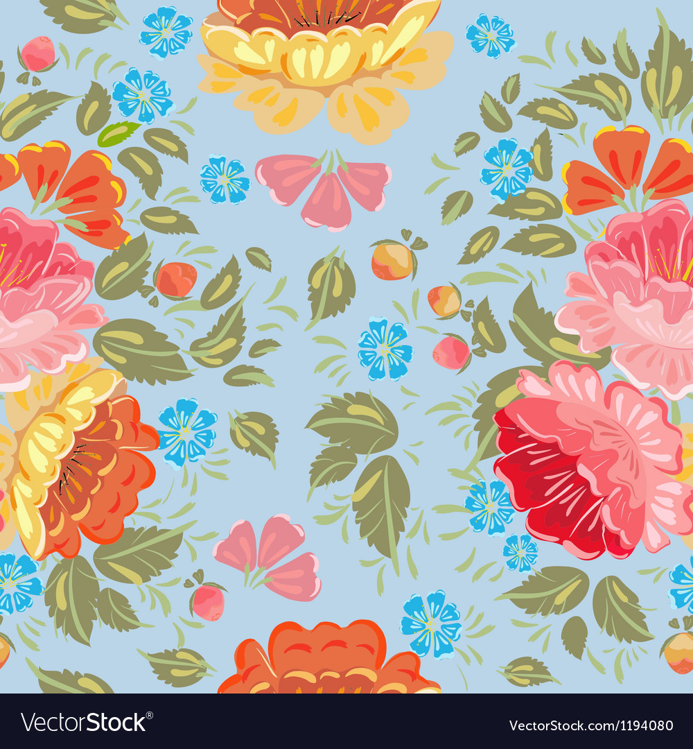 Khokhloma floral pattern vector | Price: 1 Credit (USD $1)