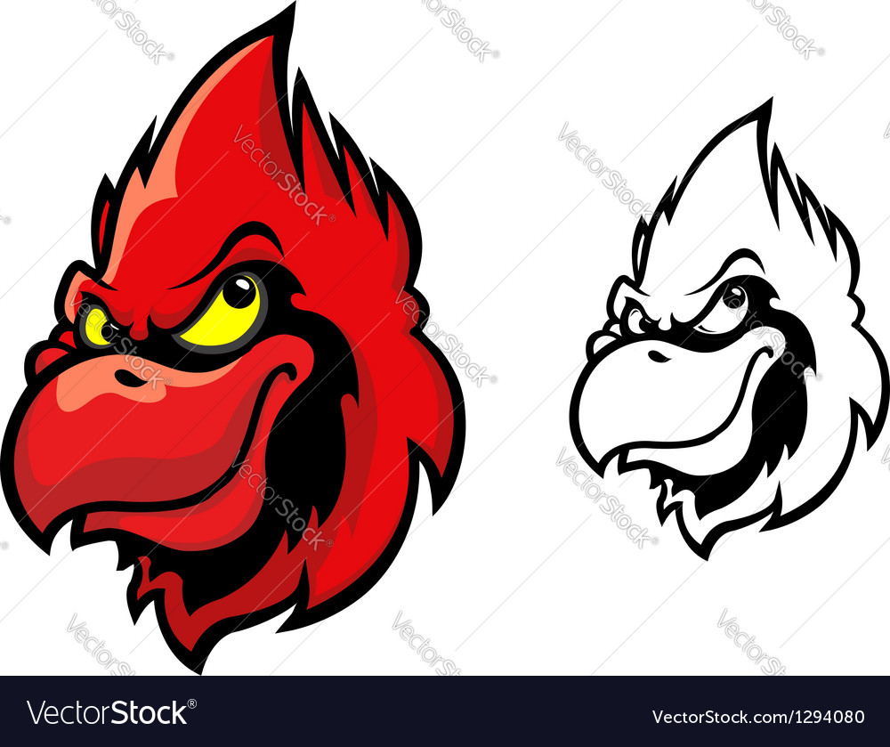 Red cardinal bird vector | Price: 3 Credit (USD $3)