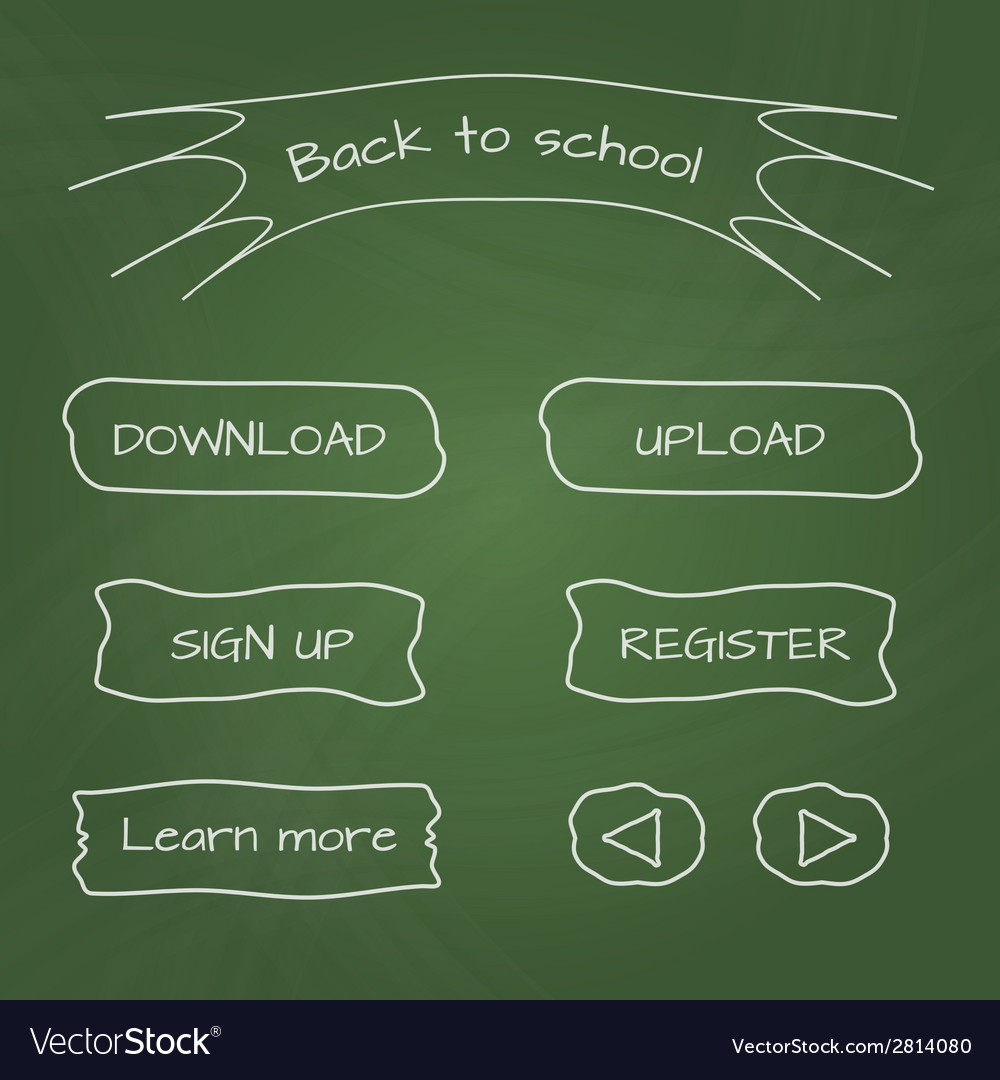 School-style web buttons vector | Price: 1 Credit (USD $1)