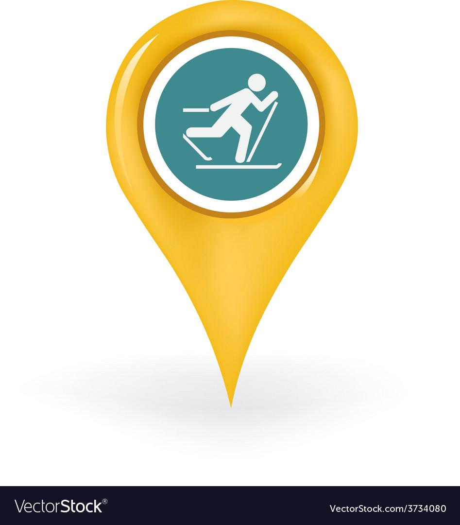 Skiing location vector | Price: 1 Credit (USD $1)