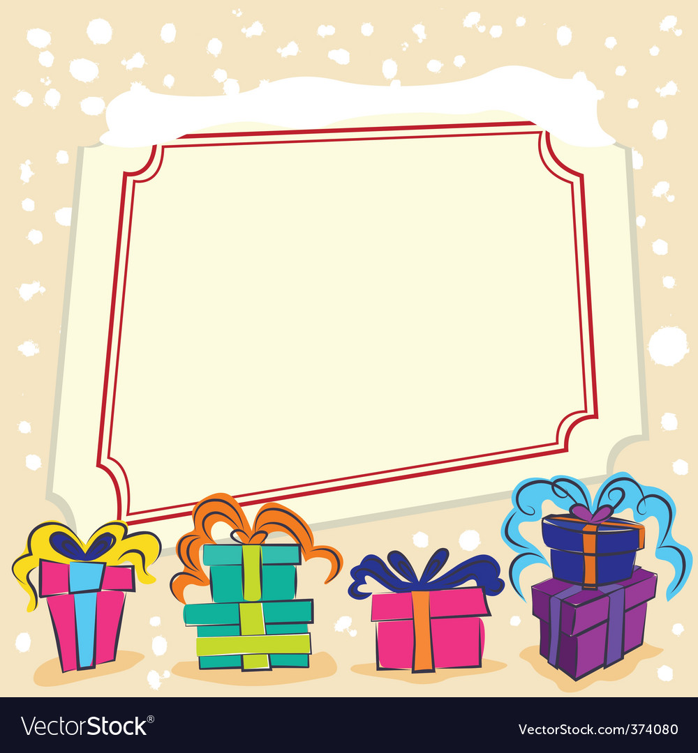 Surprise gift with frame vector | Price: 1 Credit (USD $1)