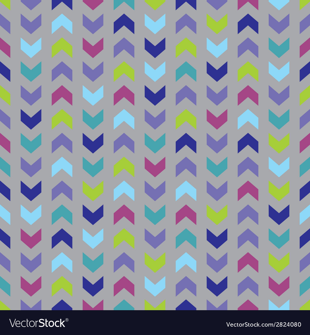 Wrapping chevron tile colorful pattern background vector | Price: 1 Credit (USD $1)