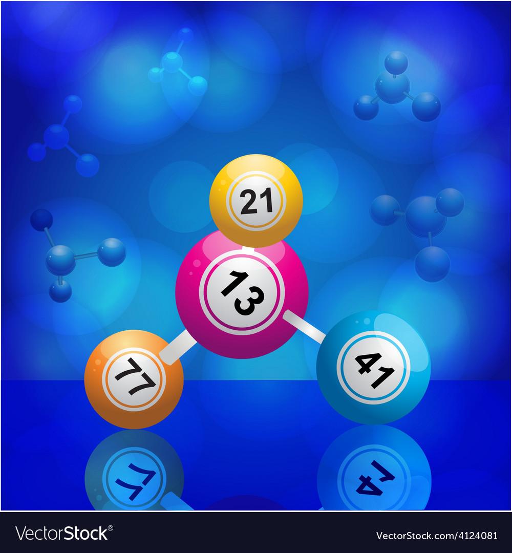 Bingo balls molecule vector | Price: 1 Credit (USD $1)