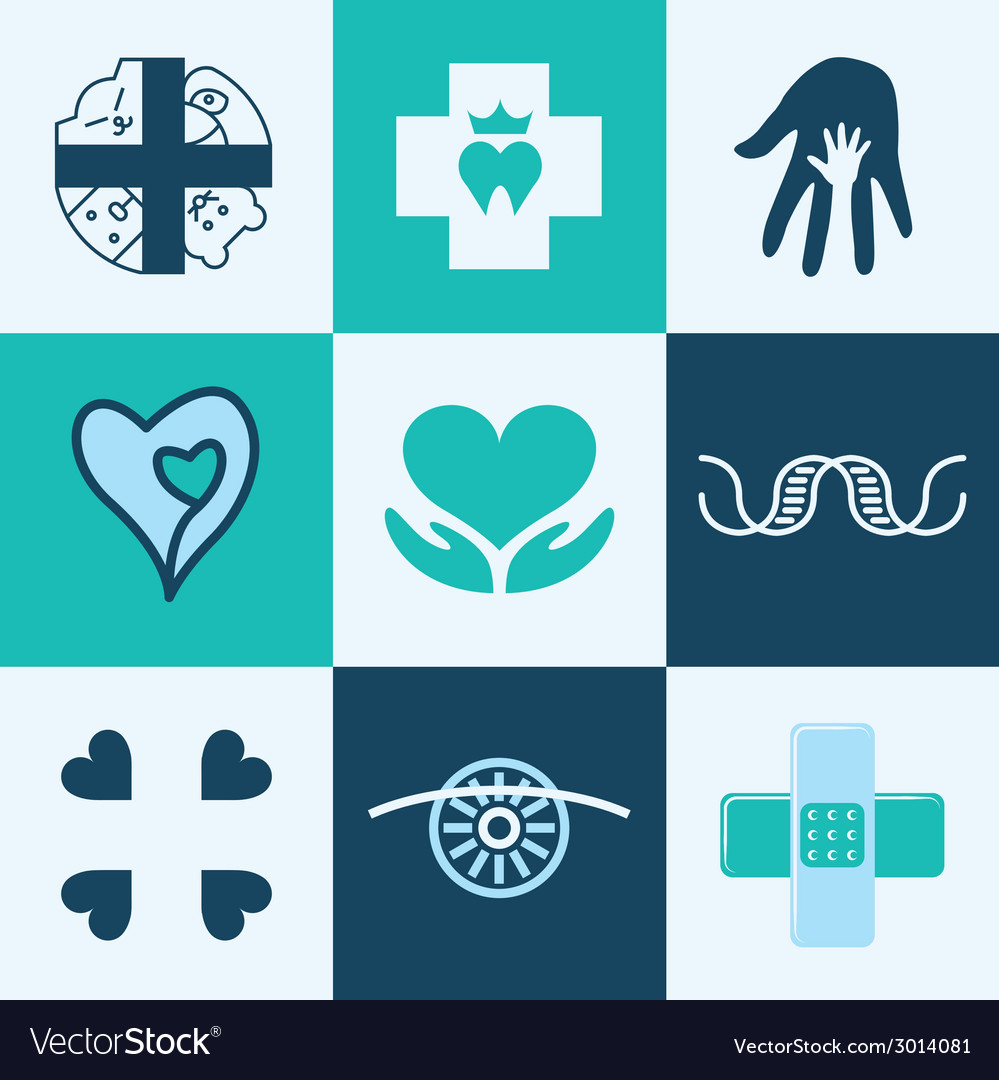 Clinic logo icons vector | Price: 1 Credit (USD $1)