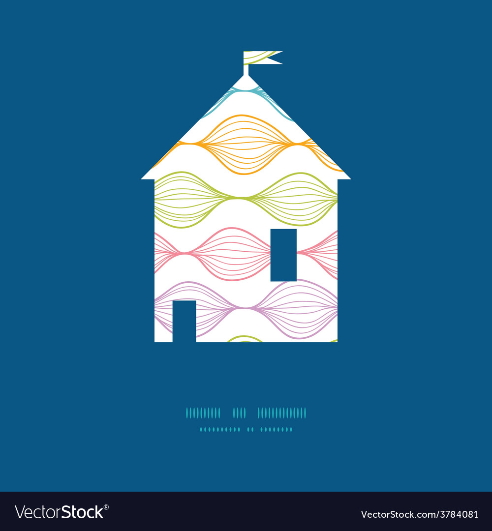 Colorful horizontal ogee house silhouette vector | Price: 1 Credit (USD $1)