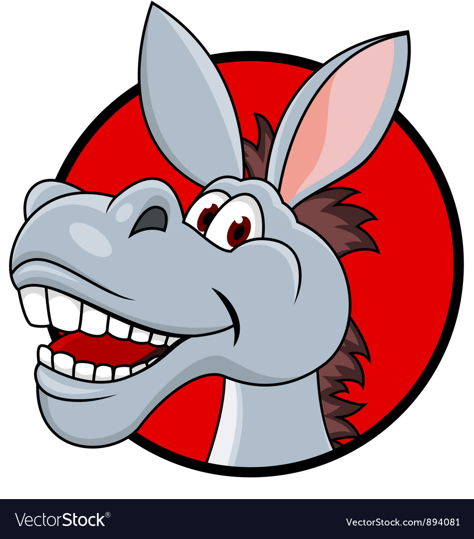Donkey head cartoon vector | Price: 3 Credit (USD $3)