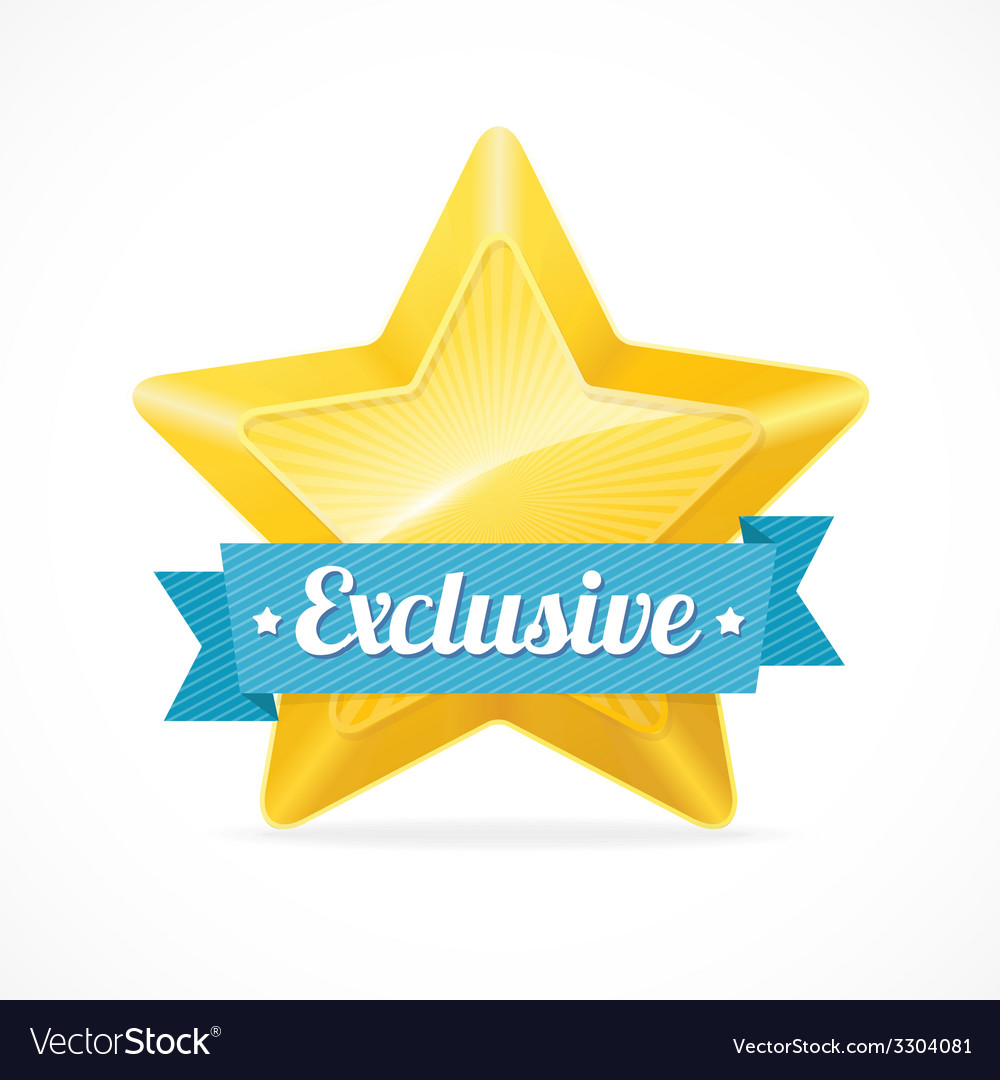 Exclusive star label vector | Price: 1 Credit (USD $1)