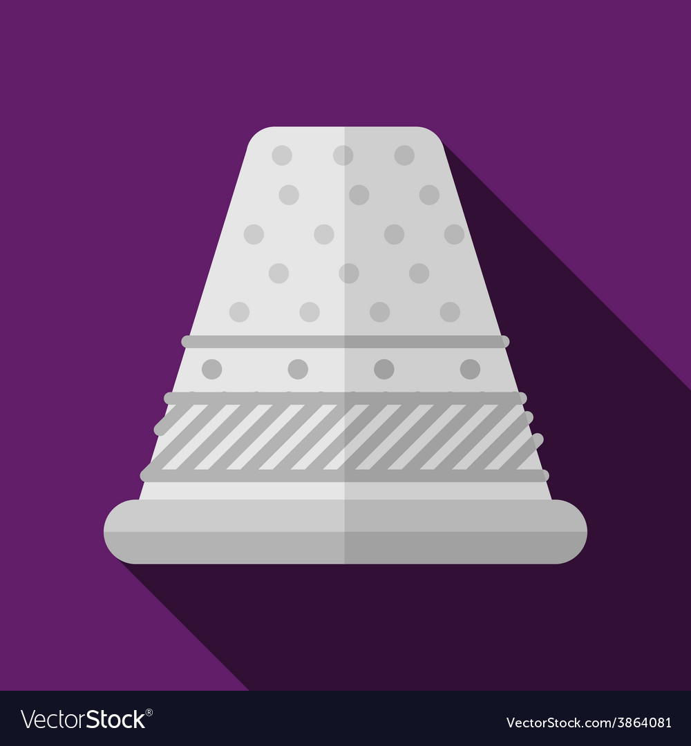 Flat icon for sewing thimble vector | Price: 1 Credit (USD $1)