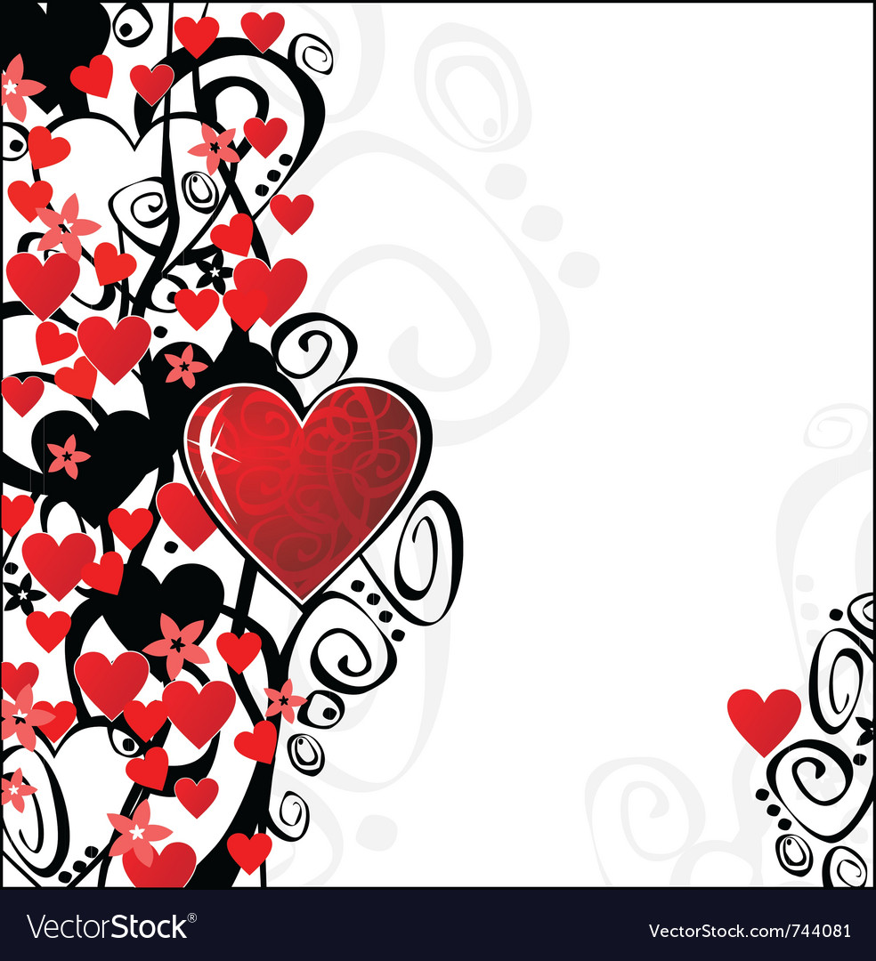 Floral valentine ornament for your design you can vector | Price: 1 Credit (USD $1)
