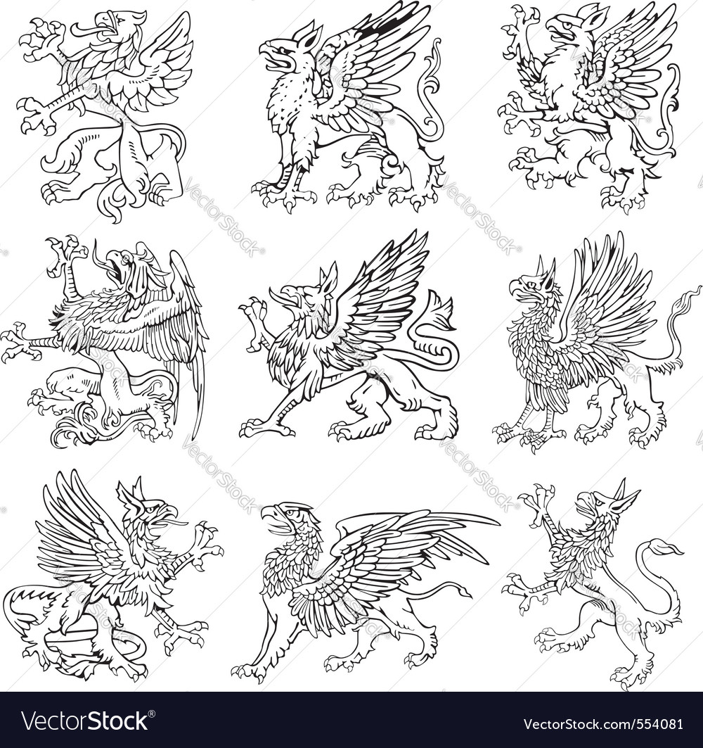 Heraldic monsters vol v vector | Price: 1 Credit (USD $1)
