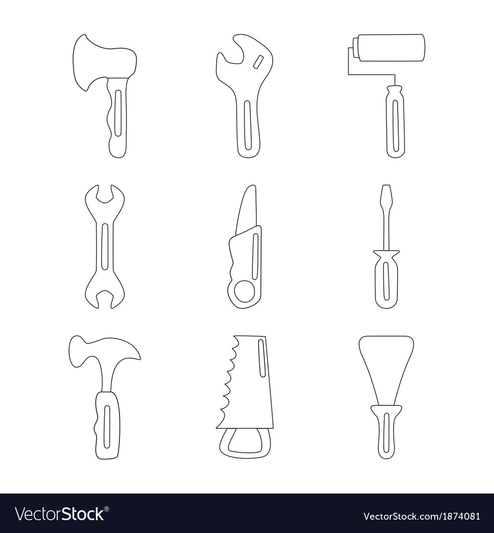 House tools vector | Price: 1 Credit (USD $1)