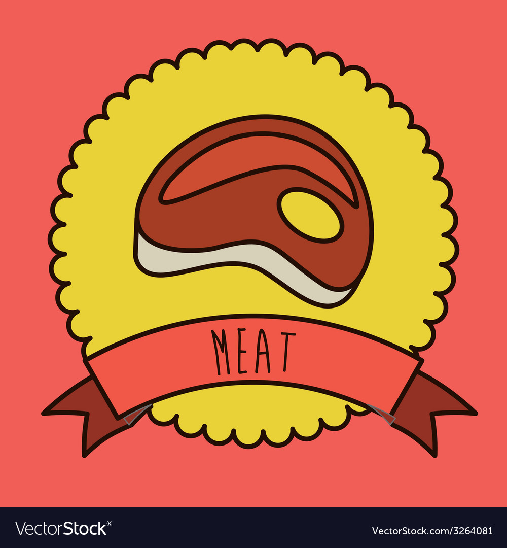 Meat design vector | Price: 1 Credit (USD $1)