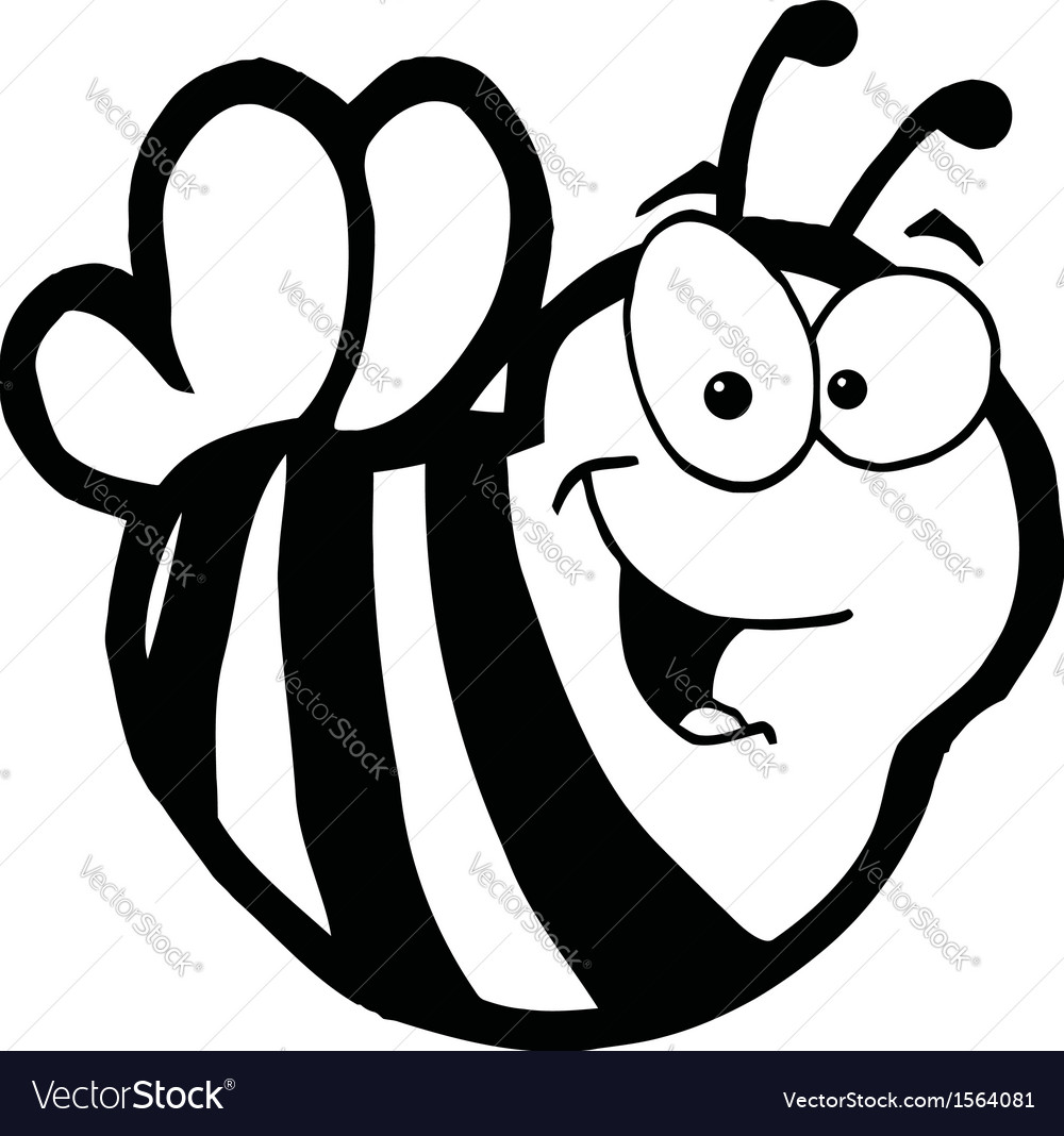Royalty free rf clipart cartoon characters bee vector | Price: 1 Credit (USD $1)