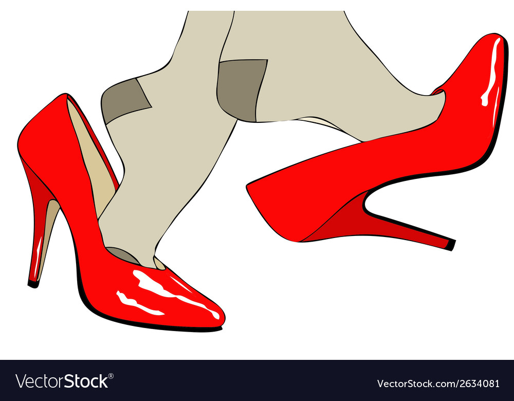 Shoes fashion and sensuality of womens clothing vector | Price: 1 Credit (USD $1)