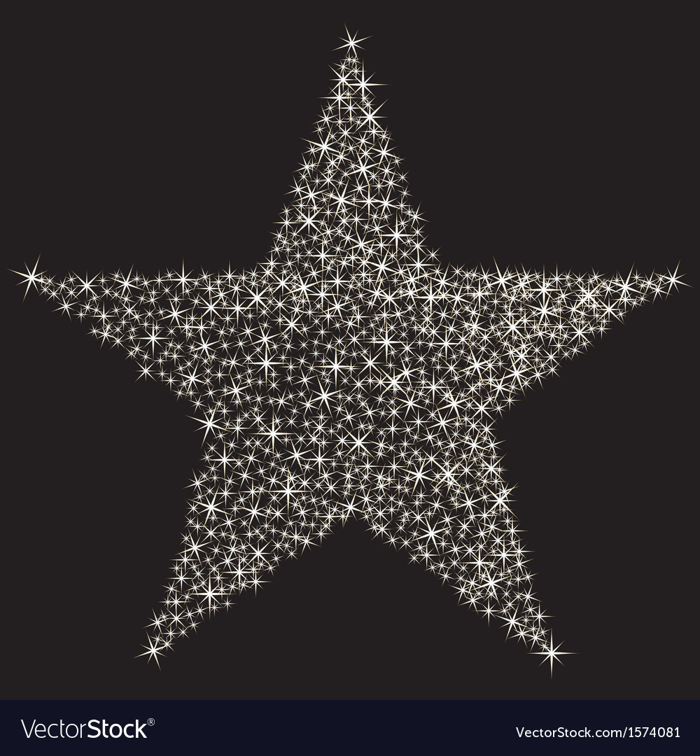 Sparkling star vector | Price: 1 Credit (USD $1)