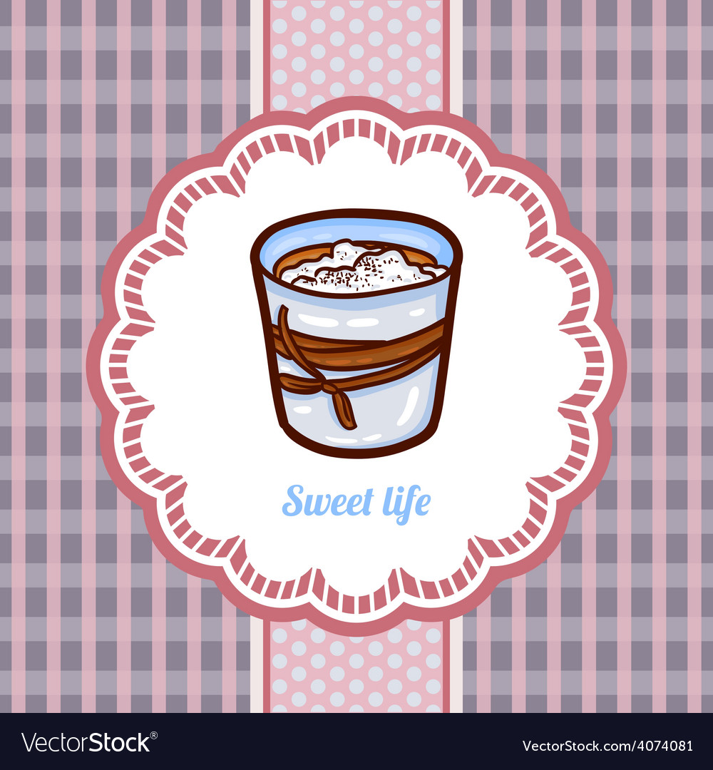 Tasty cake in retro style vector | Price: 1 Credit (USD $1)