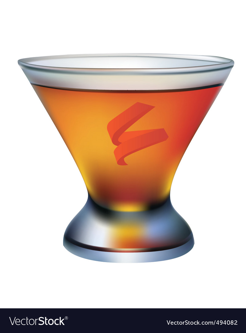A cocktail glass of orange vector | Price: 1 Credit (USD $1)