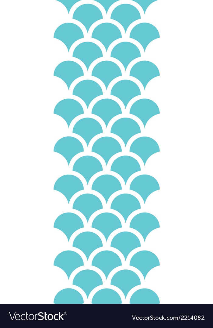 Abstract blue fishscale vertical seamless pattern vector | Price: 1 Credit (USD $1)